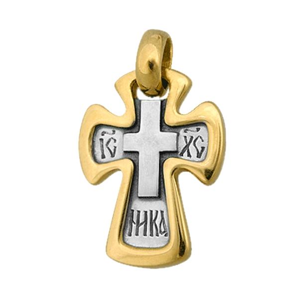 8610, Крест Православный из комбинированного золота, 7447, 28 000.00 р., 7447, , 3D Модели Православных нательных крестов