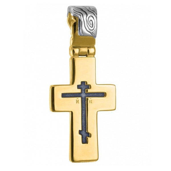 8611, Крест Православный из комбинированного золота, 7448, 41 000.00 р., 7448, , 3D Модели Православных нательных крестов