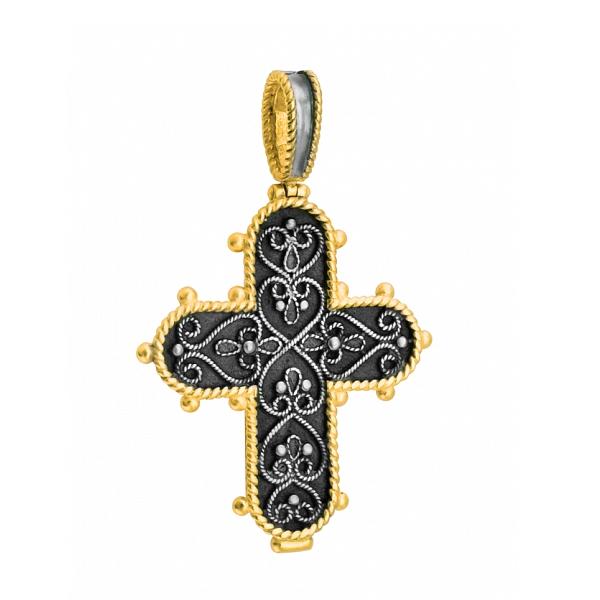 8615, Крест Православный из комбинированного золота, 7452, 31 000.00 р., 7452, , 3D Модели Православных нательных крестов