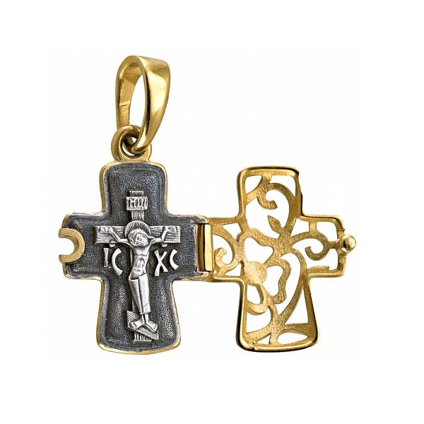 8619, Крест Православный из комбинированного золота, 7456, 45 000.00 р., 7456, , 3D Модели Православных нательных крестов