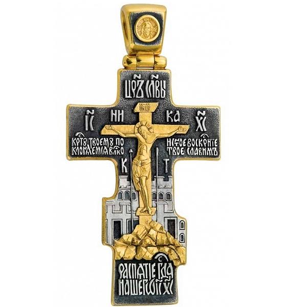 8624, Крест Православный из комбинированного золота, 7461, 111 000.00 р., 7461, , 3D Модели Православных нательных крестов