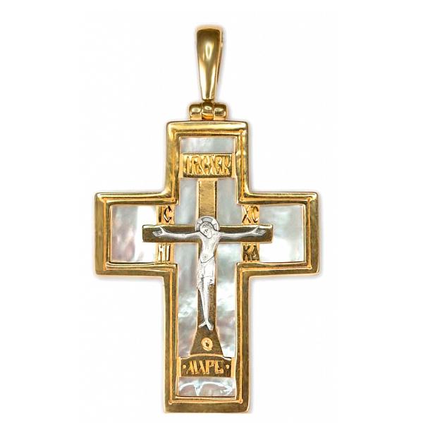 8625, Крест Православный из комбинированного золота, 7462, 96 000.00 р., 7462, , 3D Модели Православных нательных крестов