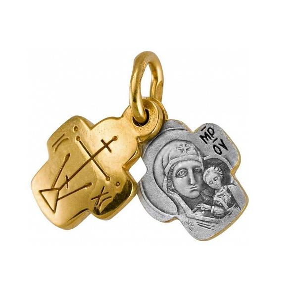 8627, Крест Православный из комбинированного золота, 7464, 39 000.00 р., 7464, , 3D Модели Православных нательных крестов