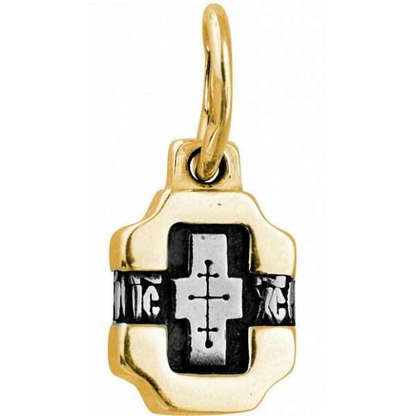 8631, Крест Православный из комбинированного золота, 7468, 20 000.00 р., 7468, , 3D Модели Православных нательных крестов