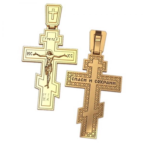 8506, Крест Православный из красного золота, 2624, 21 000.00 р., 2624, , 3D Модели Православных нательных крестов