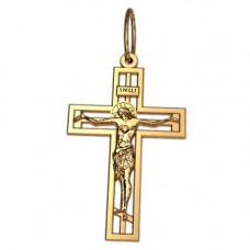 Крест Православный из красного золота