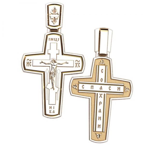 8509, Крест Православный из красного золота, 2627, 26 000.00 р., 2627, , 3D Модели Православных нательных крестов