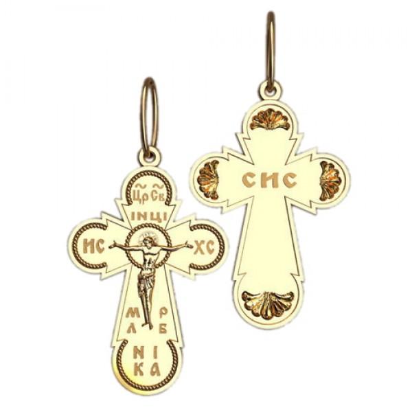 8512, Крест Православный из красного золота, 2630, 14 000.00 р., 2630, , 3D Модели Православных нательных крестов