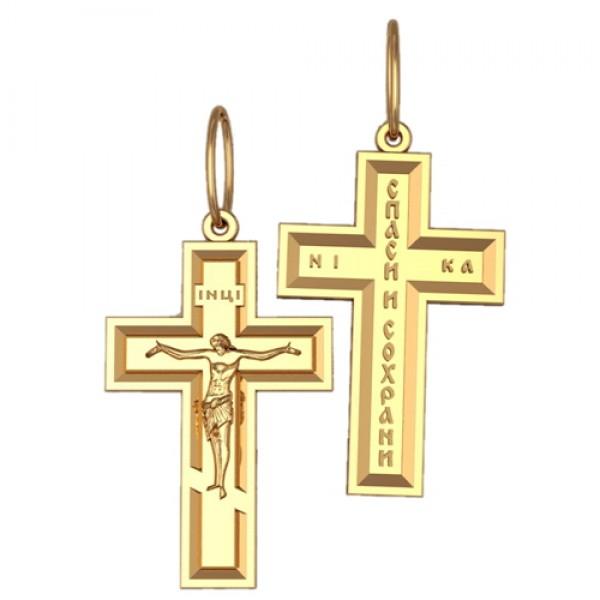 8515, Крест Православный из красного золота, 2633, 15 000.00 р., 2633, , 3D Модели Православных нательных крестов
