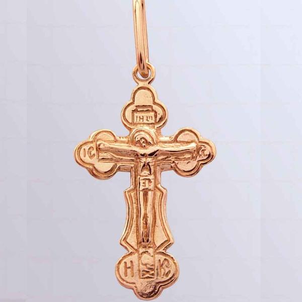 8517, Крест Православный из красного золота, 2635, 7 000.00 р., 2635, , 3D Модели Православных нательных крестов