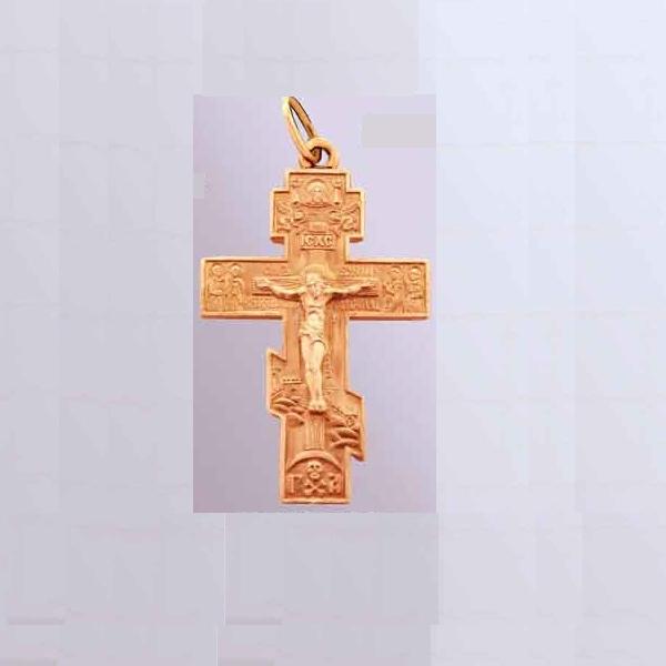 8518, Крест Православный из красного золота, 2636, 17 000.00 р., 2636, , 3D Модели Православных нательных крестов