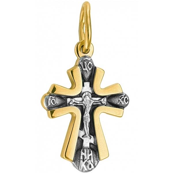 8580, Крест Православный с распятием из комбинированного золота, 7417, 43 100.00 р., 7417, , 3D Модели Православных нательных крестов